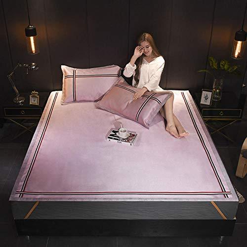 zlzty Einfarbig EIS seidenmatte dreiteiliges Set 1 5 Faltbarer Schlafsaal für Einzelschüler kann doppelt gewaschen Werden, Bett s