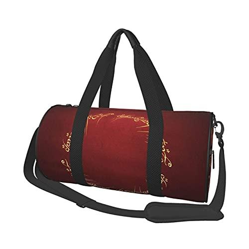 Lord Rings - Bolsa de viaje para gimnasio, para deportes, militar, camping, actividades al aire libre, juegos de 40 x 22 cm