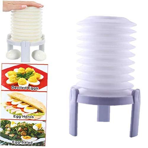 BYFRI 1pc Kunststoff Gekochtes Ei Shell-Werkzeuge Presse Egg Stractor Tragbarer Remove Eggshell Peeler Praktische Home Küchen Eggshell Maschine