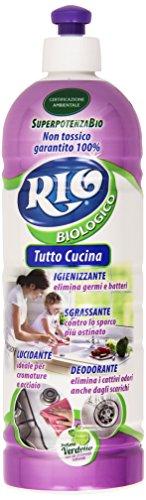 Rio - Tutto Cucina, Igienizzante, Sgrassante, Lucidante, Deodorante, Profumo Verdello - 750 ml