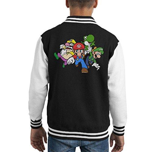 Cloud City 7 Team Super Mario Kid's Varsity Jacket