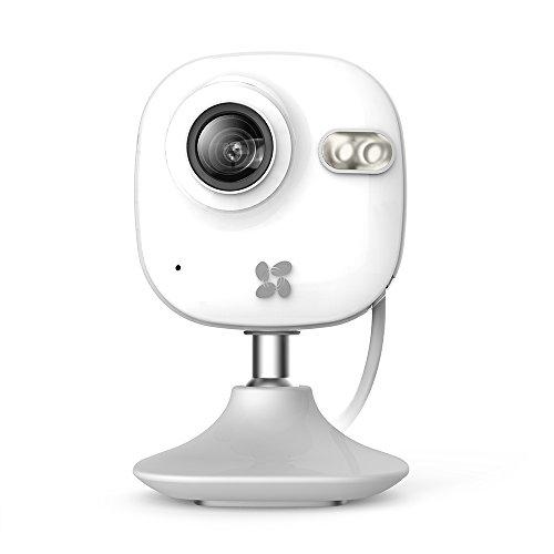EZVIZ C2 Mini HD WLAN Telecamera di Sicurezza, 2.4 GHz Wi-Fi Interni, Videocamera di Sorveglianza, Audio Bidirezionale, Baby Monitor, Visione Notturna, Bianco, 720p
