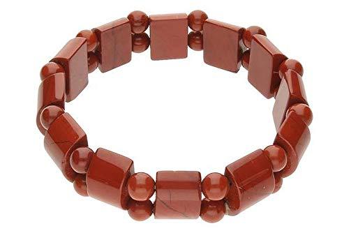 Jaspis Schmuck (Armband) Jaspis rot Armband Breite ca. 15 mm Armband Größe ca. 19 cm Modellnummer 748