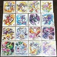 全16種セットデジモン色紙ART デジモンアドベンチャー オメガモン シークレット パートナーデジモン 選ばれし子供たちの休息