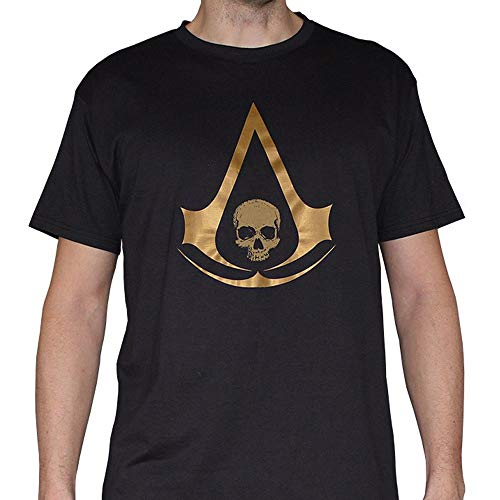 ABYstyle ABYstyleABYTEX256-M Abysse Assassin'S Creed Crest AC4 - Camiseta de Manga Corta para Hombre (Talla Mediana)