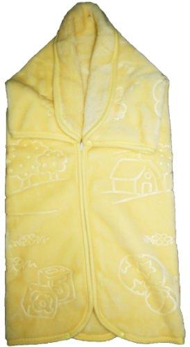 Decke Größe Bebe–Baby Tasche Wunderkind 519–THEME Bär Fait Du Velo gelb