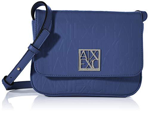 Armani Exchange Liz Small Shoulder Strap - Bolso bandolera, Azul (Denim - Denim), 14x8x20 cm (B x H x T)