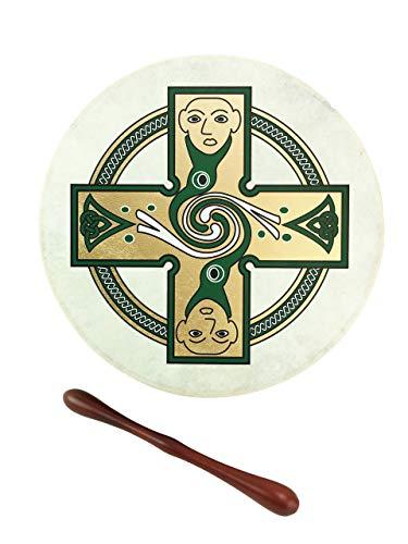 McNeela Bodhran Irische Trommel mit Schlägel und Tutorial-DVD 30,5 cm