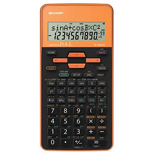 SHARP wetenschappelijke rekenmachine el 509 oranje