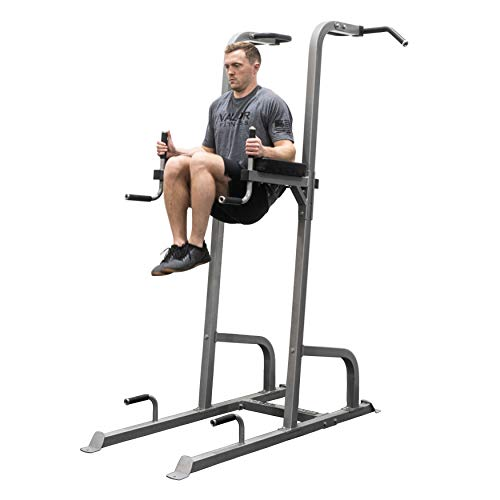Valor Fitness CA-16 VKR Vertical Knee Raise Tower - Total Workout Station for Pull Ups, Chin Ups, Knee Raises, Leg Raises, Dips, and Push Ups