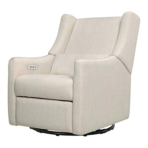 Babyletto Kiwi Electronic Power Recliner and Swivel Glider with USB Port, White...