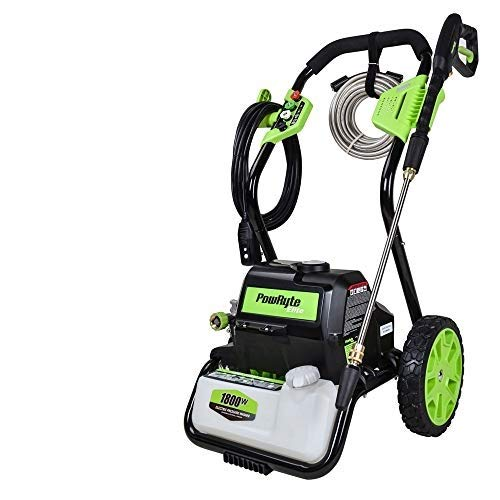 PowRyte Elite 4000PSI 3.0GPM Electric Power Washer,Electric Pressure Washer with 5 Quick-Connect Spray Tips and Wand,Car Washer with GFCI Plug-Green