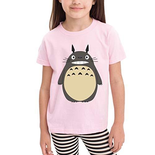 Youth Boys Girls Totoro T-Shirts Fashion Custom Short Sleeve Kids T-Shirts Tee Pink 5/6t