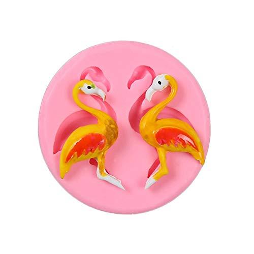 WQSD Flamingo Swan Outils de Cuisson décoration Silicone Moule Cuisson Fudge Bonbons Artisanat Bricolage gâteau Bonbons