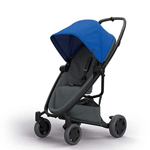 Quinny Zapp Flex Plus Buggy, stylischer Kinderwagen mit viel Komfort und Flexibilität, leicht und extrem kompakt zusammenfaltbar, nutzbar ab der Geburt (z.B. mit Lux Babywanne), blue on graphite