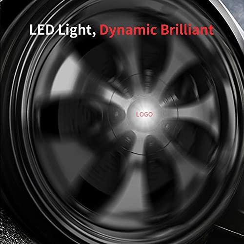 JUULLN Cubierta Central Tapas de lámpara LED de 4 Ruedas Capas de Centro de iluminación Flotante automotriz adecuadas para Luces LED BMW Mercedes-Benz Volkswagen KIA Ford Tapacubos