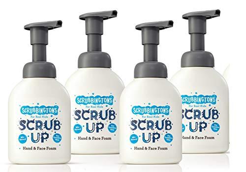 Scrubbingtons Paquet de Quatre Scrub Up Mousse Nettoyante Visage et Mains, 1 Pack (4 x 200 ml)