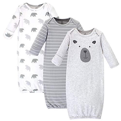Touched by Nature - Trajes de algodón orgánico para bebé, Bear Pack, 0-6 Meses