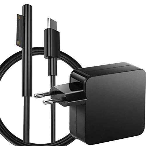 Surface Pro Ladekabel PD 45W,Ladegerät USB Typ C Kabel für Microsoft Surface Laptop Netzteil Adapter Kompatibel mit Surface Pro 3/4/5/6/7/X, Book 1/2