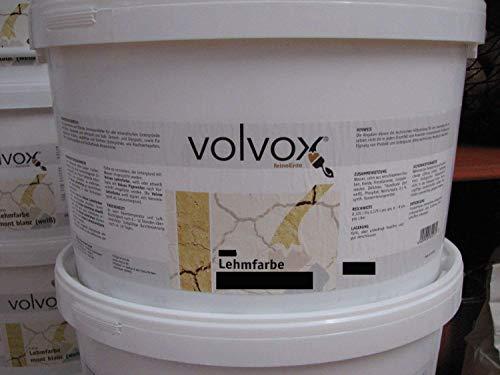 Volvox Lehmfarbe 10 Liter weiß
