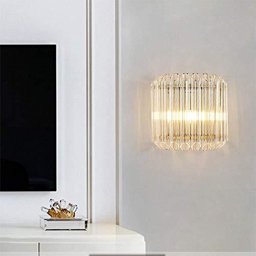 YANQING duurzame Scandinavische moderne minimalistische roestvrij staal kristal wandlamp licht Aisle gang restaurant woonkamer slaapkamer studie 26 * 25cm