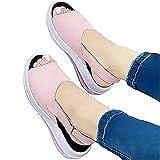 Nuevo 2021 Sandalias Mujer Verano Moda Elegante Zapatos de plataforma mujer Cuña Zapatos de Boca de Pescado deportivos Playa Zapatillas Sandalias de Punta Abierta casual Fiesta Roman Tacones Altos