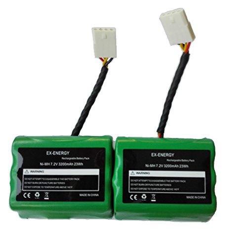 EX-ENERGY 7.2V 3200mAh Battery Compatible for Neato XV-11 XV-12 XV-14 XV-15 XV-21 XV-25, XV Essential, XV Pro Robotic Vacuum Cleaners...