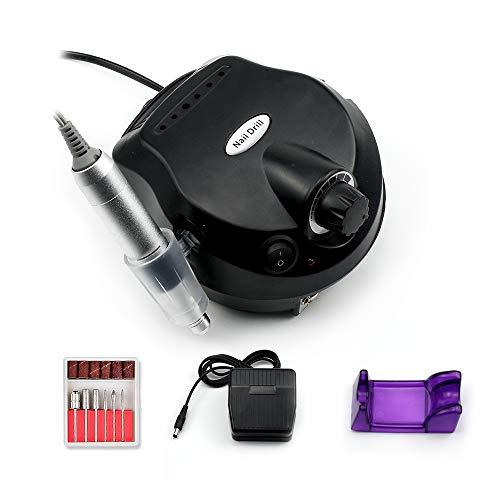 ZYC 30000 RPM - Taladro eléctrico para uñas (3000 rpm), color negro