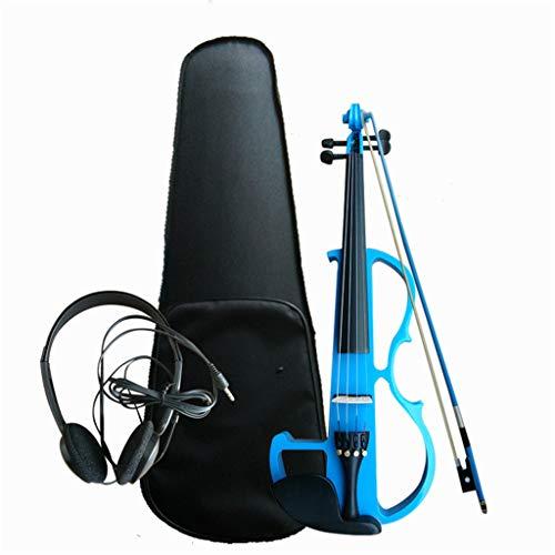 Juego de violín eléctrico de Madera Maciza silenciosa para Estudiantes de tamaño...
