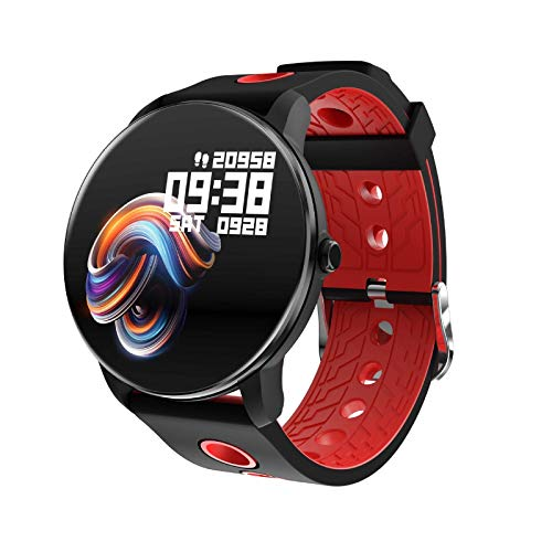 ZHENAO Smart Watch, Pantalla de Color Completo de 1.3 Pulgadas, Monitoreo Del Sueño, Pulsera Deportiva de Bluetooth Impermeable a Impermeables de Varios Idiomas, para Android Y Ios.