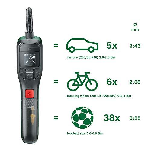 Bosch Home and Garden 603947000 elektrische Luftpumpe Mini Kompressor EasyPump (3,0 Ah Akku, 3,6 Volt, Autostop-Funktion, 150 PSI, 10,3 bar, LED, über USB-C® wiederaufladbar, in Karton) - 4