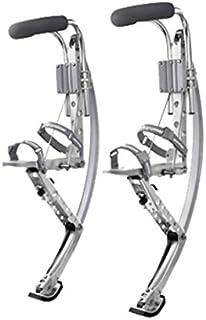 Esebiz Skyrunner - Trampoli Jumping stilts Pogo, 70 - 90 kg, colore: argento