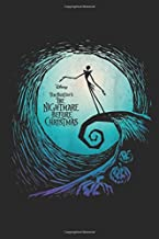 disney tim burton's the nightmare before christmas: Nightmare Before Christmas Jack Movie Logo  Journal/Notebook Blank Lined Ruled 6x9 100 Pages