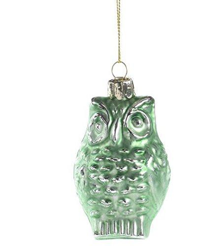 mint green glass ornament