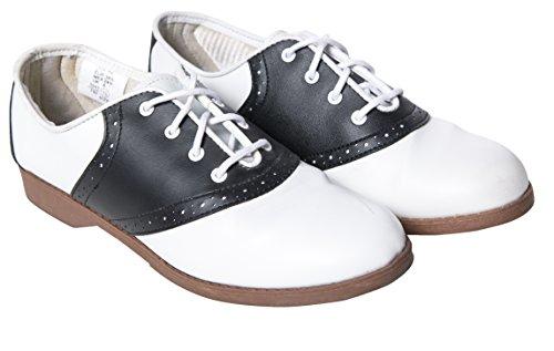 Hip Hop 50s Shop Womens Saddle Oxford Shoes 10 Black