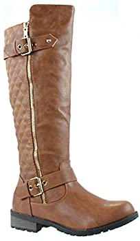 Women's Vivienne Studded Leatherette Motorcycle Boots – Boots for Women