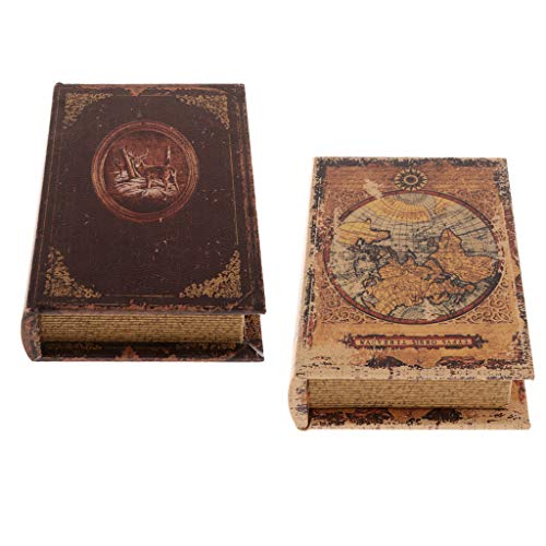 Gazechimp Caja de Madera con Forma de Libro Hueco Falso para Guardar Dinero en Efectivo