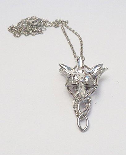 Collana arwen stella del vespro signore degli anelli lord of the ring platino