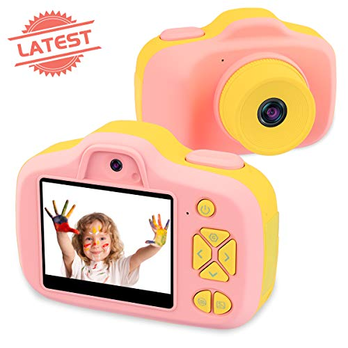 Joytrip Kids Video Camera for Girls Gifts HD 2.3 Inches Screen 12MP Kids Digital Cameras Shockproof Children Selfie Toy Camera Anti-Fall Mini Child Camcorder for Child Age 3-14 (Pink)