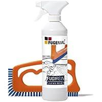 Fuginator FUGIREIN detergente para Juntas, 250ml Cepillo para Juntas Naranja/Azul - Agente Limpiador para junturas de Las baldosas, Elimina el Moho superficialmente