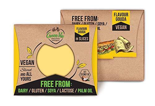 GreenVie Queso Gouda en Lonchas vegano 180g (Pack de 4)
