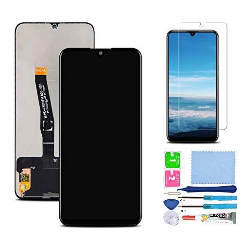 Pantalla LCD Táctil Asamblea Repuesto Compatible con Huawei P Smart 2019 Negro con Herramientas + Película Templada
