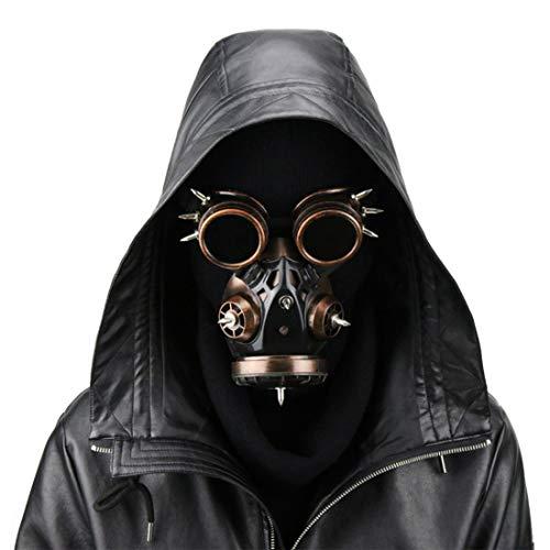 BILALE Biohazard Steampunk Máscara de Gas Gafas Gafas Espigas Esqueleto Guerrero Máscara de Muerte Mascarada Cosplay Disfraces de Halloween Accesorios Máscara de Fiesta (Color : Style2)