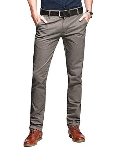 Match Mens Slim-Tapered Flat-Front Casual Pants(8116 Grayish Green,32)