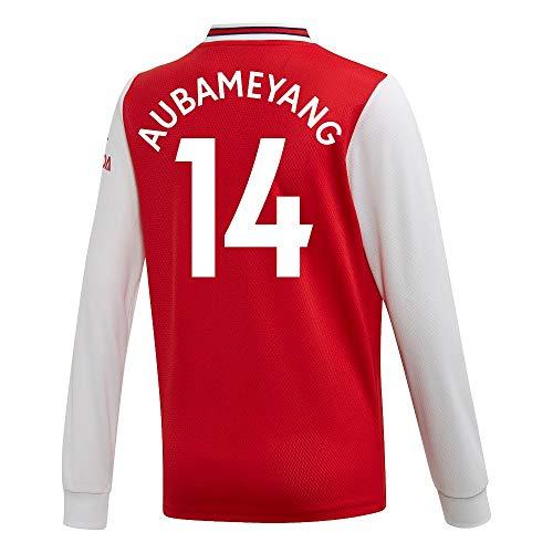 adidas Arsenal Home Aubameyang 14 Kids L/S Trikot 2019-2020 (Fan Style Beflockung) - 164cm