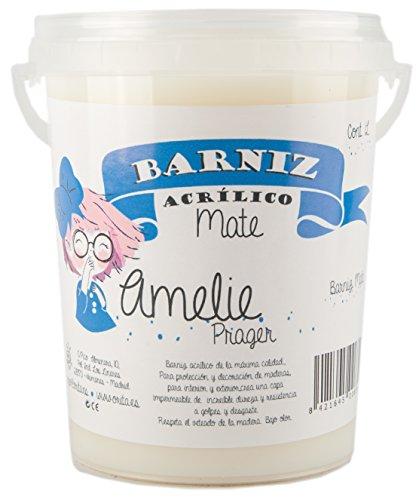Amelie Prager 645111 Barniz al Agua, Blanco, 1 l