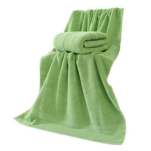 9302sonoaud 70x140cm Absorbant l'eau épaisse Douce Douche de baignade Coton Serviette de Plage Gant de Toilette Vert