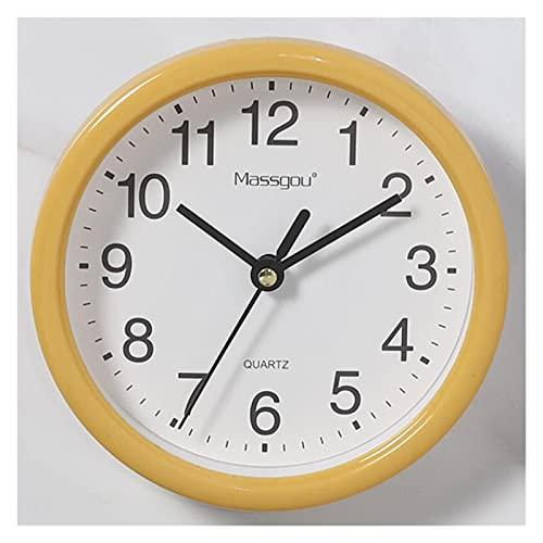 Reloj de Pared Nordic Minimalista Minimalista Reloj de Pared Blanco Color de Caramelo Simple con Borde Liso Horloge Reloj Colgando Decoración para el hogar Dormitorio Moda