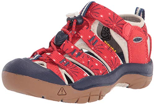 KEEN Newport H2 Closed Toe Water Shoe Sandal, Red, 5 US Unisex Big Kid
