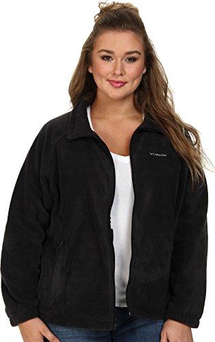 Columbia Women's Plus-Size Benton Springs Full Zip Plus, Black, 3X